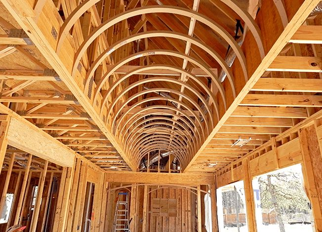 With our prefabricated barrel ceiling kits made to your measurements, you'll install barrel vault ceilings in less time and money than building them.