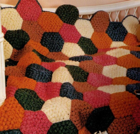 VINtAGE 1960'S AFgHAN BAbY PATCHWORK BRIgHT by Crafting4Ever2013