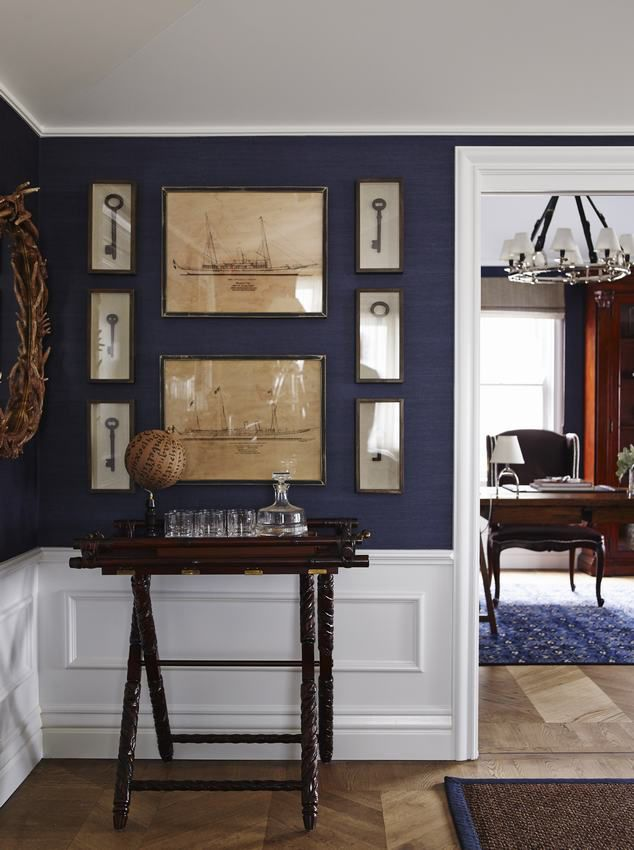 Entry hall color scheme Chinoiserie Chic: New England Chinoiserie Aussie Style