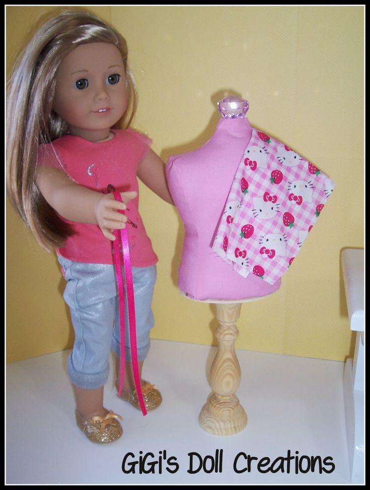 GiGi's Doll Creations: Making doll dress form for Isabelle