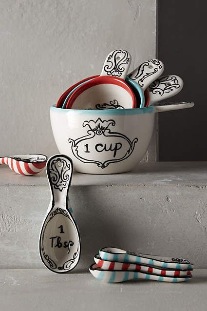 Crowned Leaf Measuring Cups - anthropologie.com