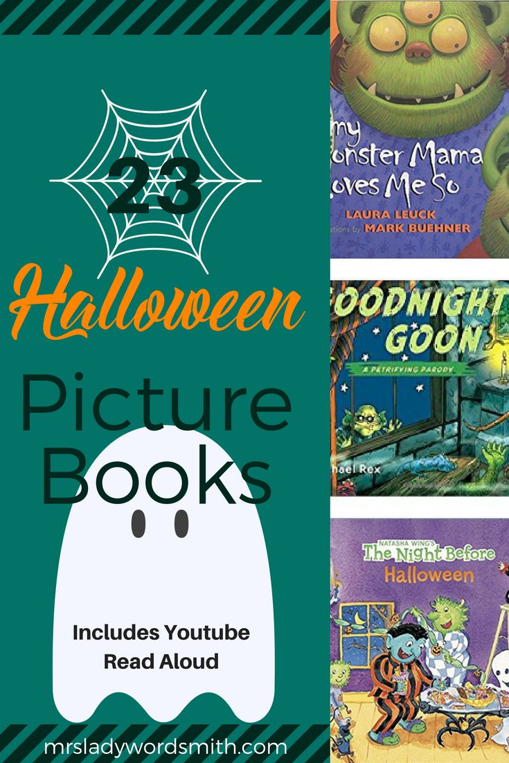 #Halloween picture #books are so fun to share with #kids. Here are 23 of the best, including one I narrate on Youtube.