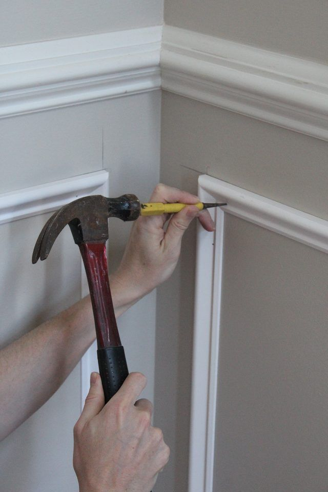 This article is a complete tutorial on how to install shadow box trim or molding squares to a wall in your home.