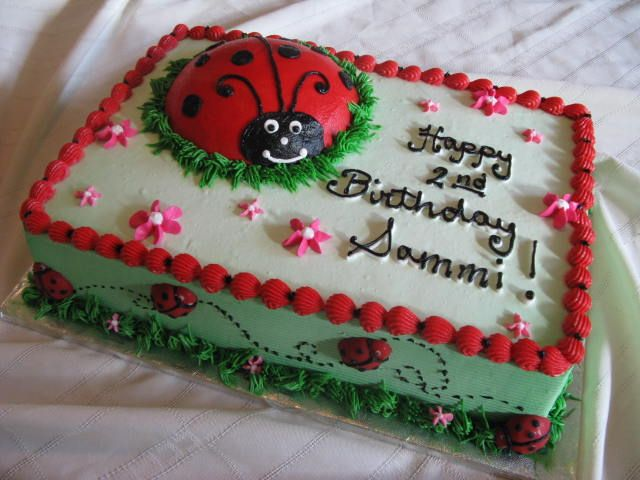 Ladybug sheet cake...Let's see if we can get this :-)!