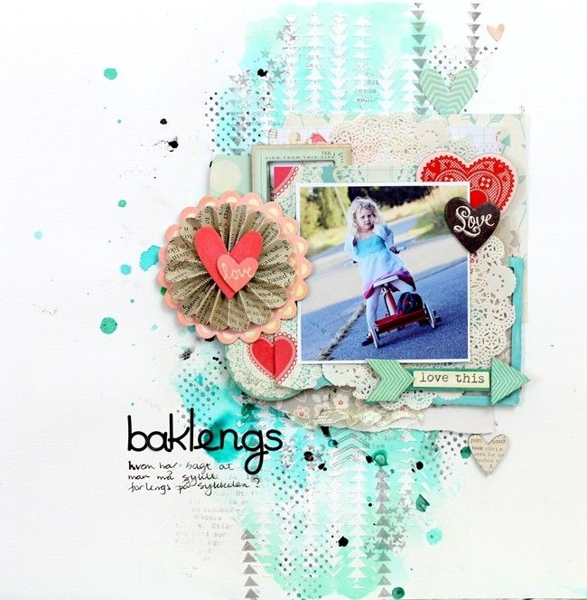 My Creative Scrapbook background tutorial - UmeNorskans scrapbookblogg