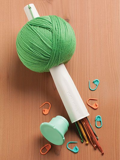This amazing stick is used to wind yarn into a uniform, consistent ball. No need for those expensive yarn ball winders, and it is so easy to use! Look for the secret compartment that can hold small things like stitch markers and yarn needles that are...
