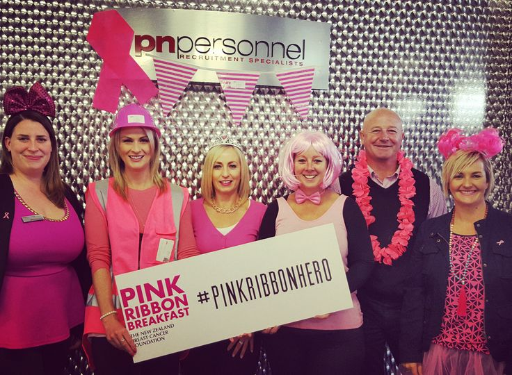 Aren't we a lovely pink bunch? :) The team at Palmerston North Personnel would like to thank everyone who has supported our Pink Ribbon fundraiser this year. You are all amazing!  #pinkribbon #pnpinkribbon #pinkribbonhero