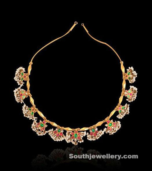 Antique Guttapusalu Necklace by NAC Jewellers - Indian Jewellery Designs South Jewellery