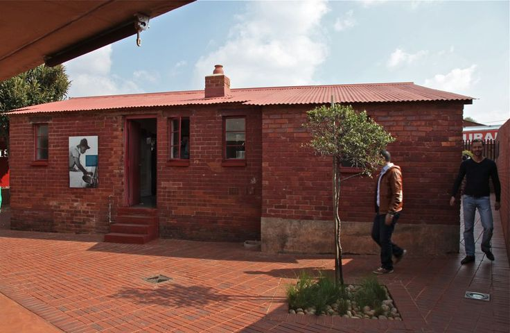 Mandela House is famous visiting spot in South Western Township aka Soweto, Johannesburg, South Africa. Nelson Mandela lived in this very same house during the years 1946-1961. In 1999 the house was declared a national monument. © Miikka Järvinen 2013