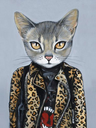 KAT  Matte Print From Painting by Heather by HeatherMattoonArt,