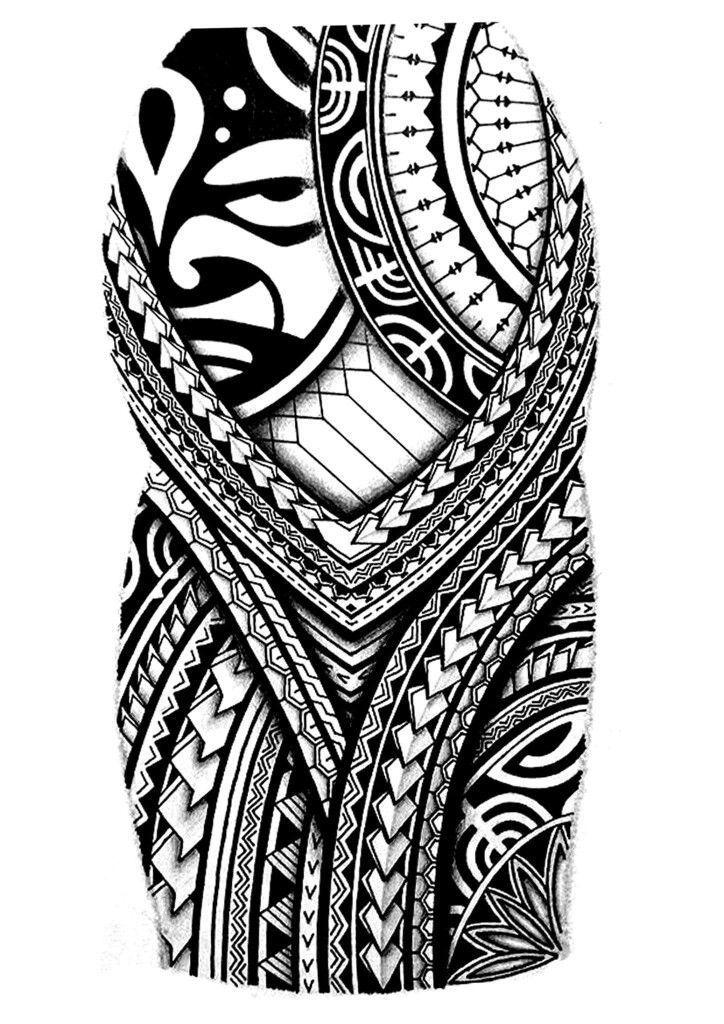 Fancy Polynesian Tattoo Half Sleeve Designs 82 On Cute Tattoo