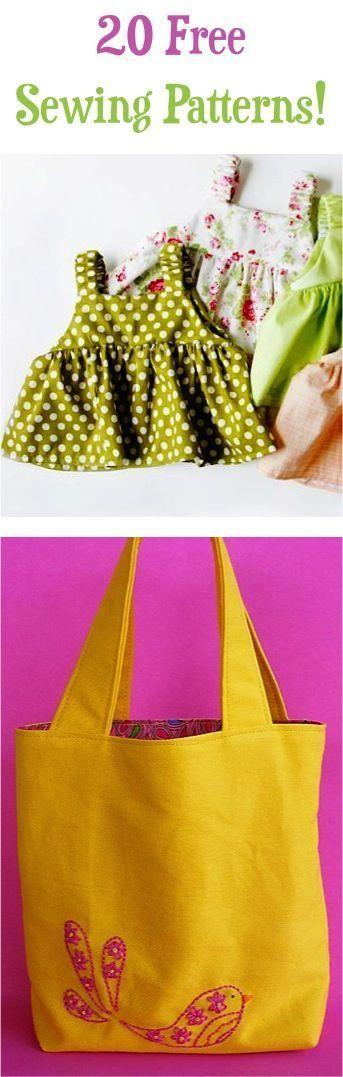 20 Free Sewing Patterns!