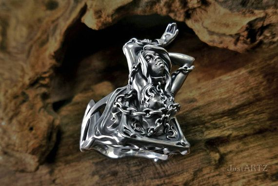 Andromeda mythology Sterling Silver Ring by justARTz on Etsy