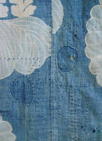 part of a boro futon cover…….just beautiful indigo and chrysanthemums from Sri