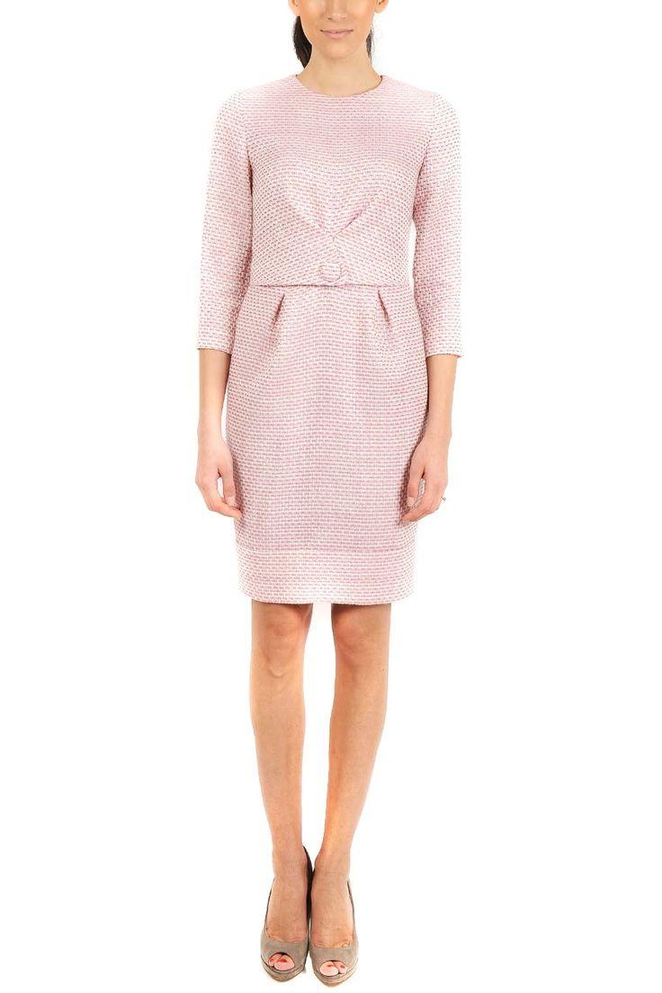 Rochie conica stofa roz pal