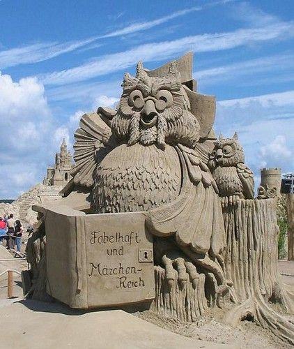 Скульптуры из песка. Часть 3. (50 фото)