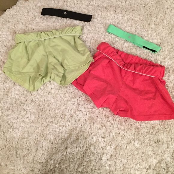 Soffee shorts Never worn! Brand new pink and green soffe shorts! Sold together or seperate! Perfect for anything! Super comfy!  Soffe Shorts