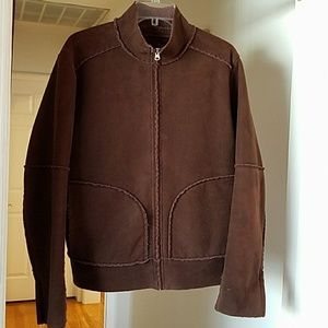 I just added this to my closet on Poshmark: Velvet brown zip up sweater (men). Price: $60 Size: M
