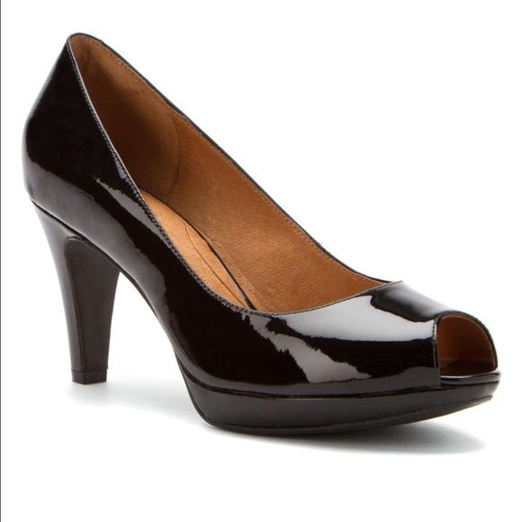 Clarks Wessex Eider Pumps A timeless style this women's peep-toe dress shoe  fts.