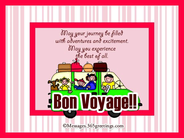 Bon Voyage Messages and Greetings | Messages, Voyage and