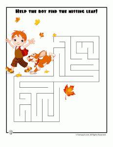 fall mazes 231x300 Easy Kids Mazes