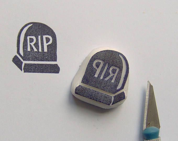 RIP timbro di gomma, bollo Tombstone RIP, RIP lapide timbro, timbro di Halloween, divertimento timbro di gomma, cardmaking, scrapbooking, stampaggio di carta