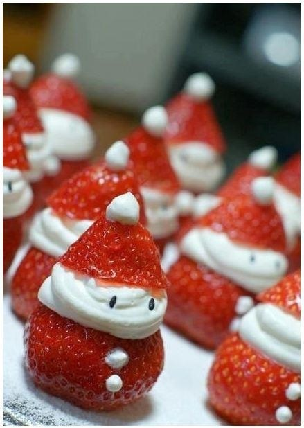 Strawberry Santas. I might die from the cuteness