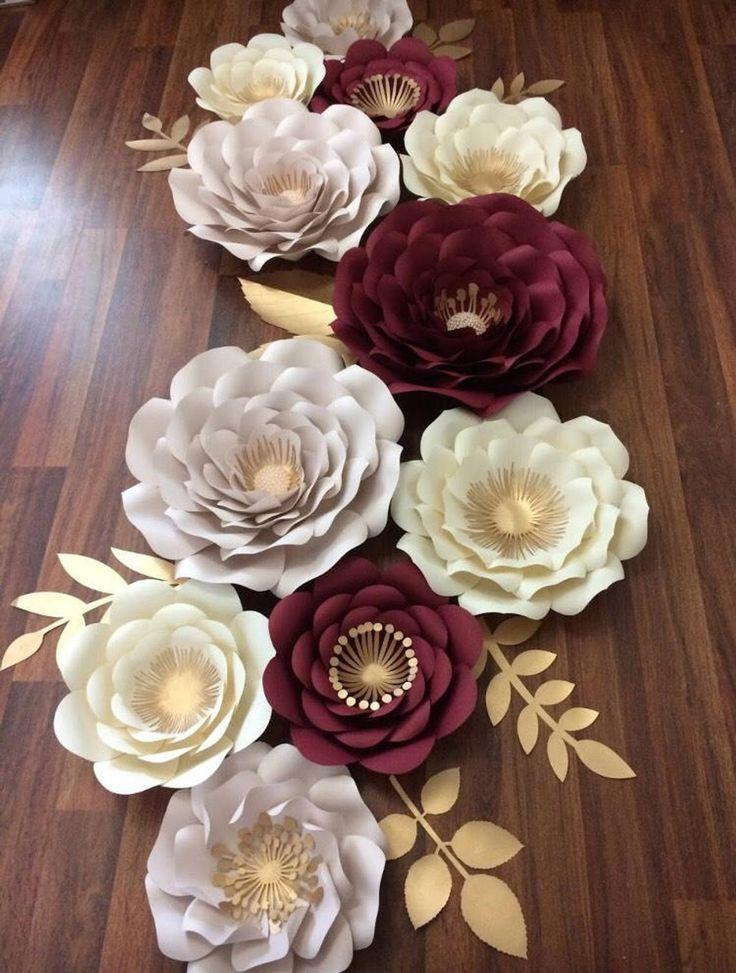11 pcs. Paper flower set