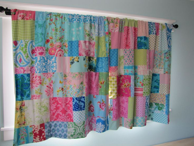 patch work curtains - Google Search