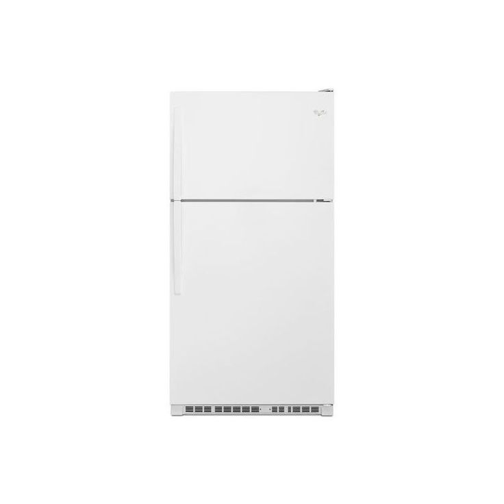 whirlpool wrt311fzd 33 inch wide 205 cu ft top freezer with led white