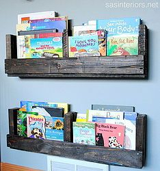 Pallet bookshelves are a fun, easy, and practically FREE way to display books. I created a set of pallet bookshelves for my sons room using pallets found in the…