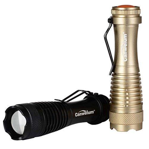 Oferta: 6.99€ Dto: -73%. Comprar Ofertas de Canwelum - Linterna LED Cree Zoom, Linternas LED alta potencia Mini Tactica 3-modo (2 x Linternas y 2 x Baterías) barato. ¡Mira las ofertas!