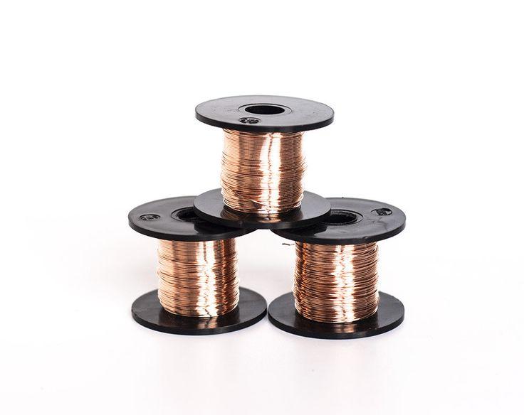 2439_Bronze craft wire 26 gauge, Jewelry wire 0.4 mm, Bronze wire, Wire wrap, Craft thin wire, Wrapping wire, Wire spool, 26 awg wire_50 g. by PurrrMurrr on Etsy