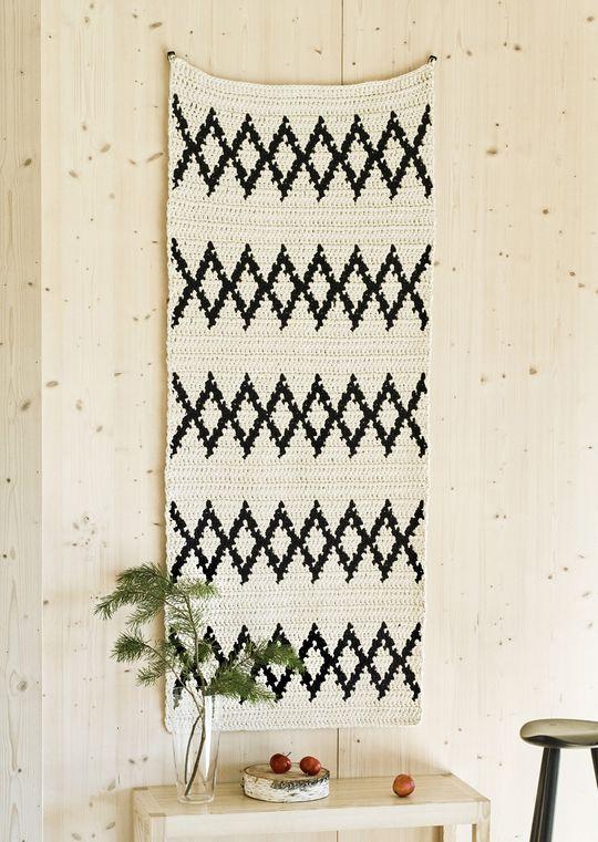Nordic living with Novita, Crochet carpet made with Novita Eco Tube yarn #novitaknits https://www.novitaknits.com/en