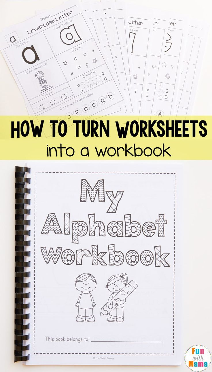 Homeschool Organization How to Bind A Book, How to Make Workbooks from Free Printables, Lesson Plans, How to Bind Books, Turn Pages into Workbooks, Preschool Workbook Ideas