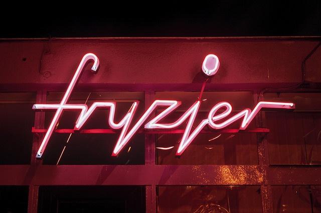 Fryzjer (Hairdresser) neon in Warsaw, Poland.