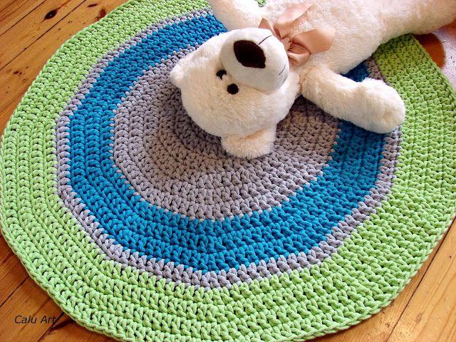 Calu Art: Sznurkowy dywanik -  średnica 87 cm