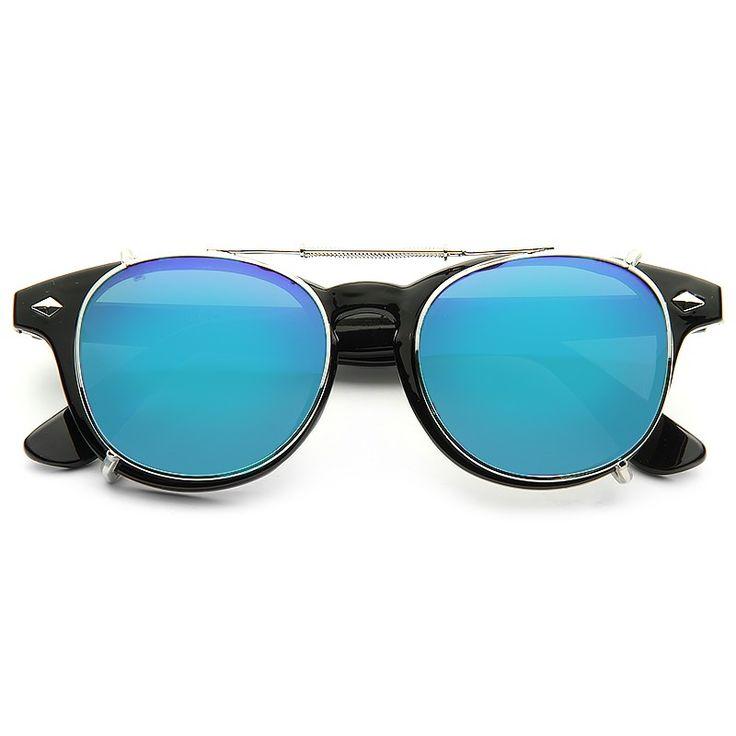 Cheap Novelty Sunglasses   Halifax Unisex Convertible Horn Rimmed Sunglasses     BleuDame.com