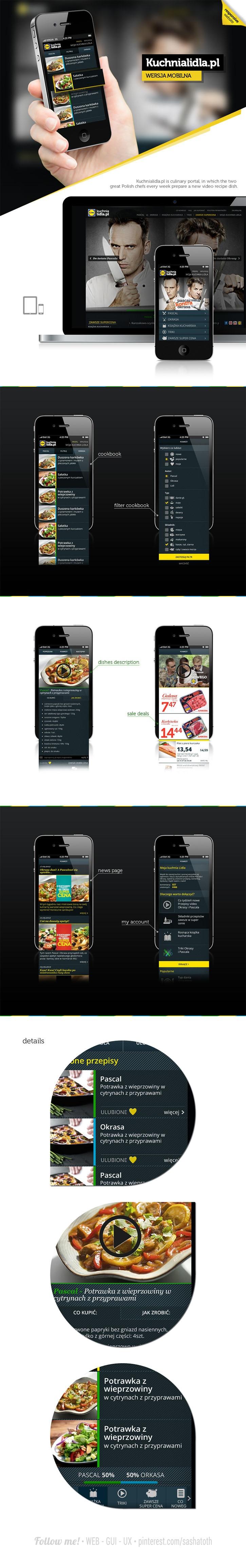 Kuchnialidla.pl - mobile by Jarosław Kosiński *** #web #rwd #behance