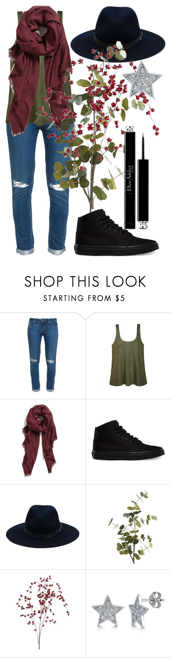 """Luanna Perez"" by yuni2119 ❤ liked on Polyvore featuring Paige Denim, Ally Fashion, Halogen, Vans, rag & bone, Pier 1 Imports, BERRICLE and Christian Dior"