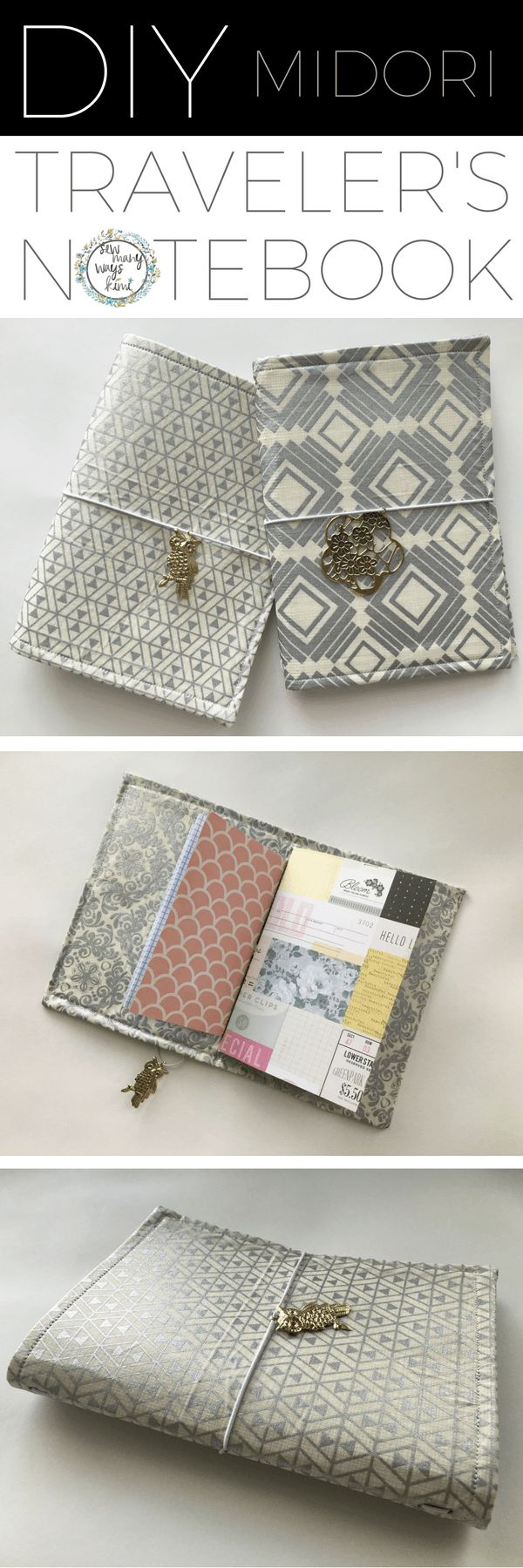 DIY Midori Travelers Notebook & Notebook Inserts. Video Included! Perfect for gifts!