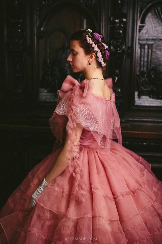 Abiti Da Sera 800.Civil War Rose Dress 1860s Ball Gown Vestiti Abiti Rosa E Abiti