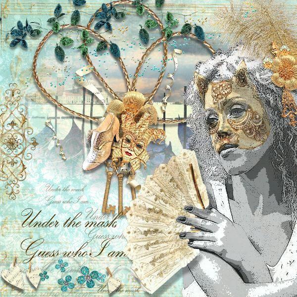 VENICE'S SPLENDOR  http://www.oscraps.com/shop/D_s-Design/ Photos woman (edited) and photo in the background: Pixabay
