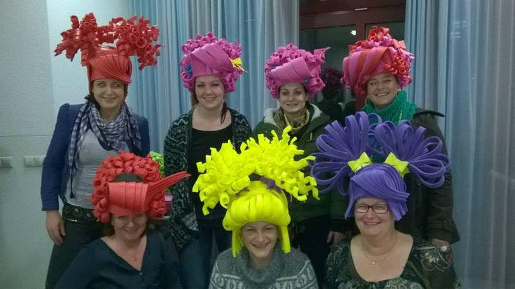 Workshop foam wigs by Lady Mallemour