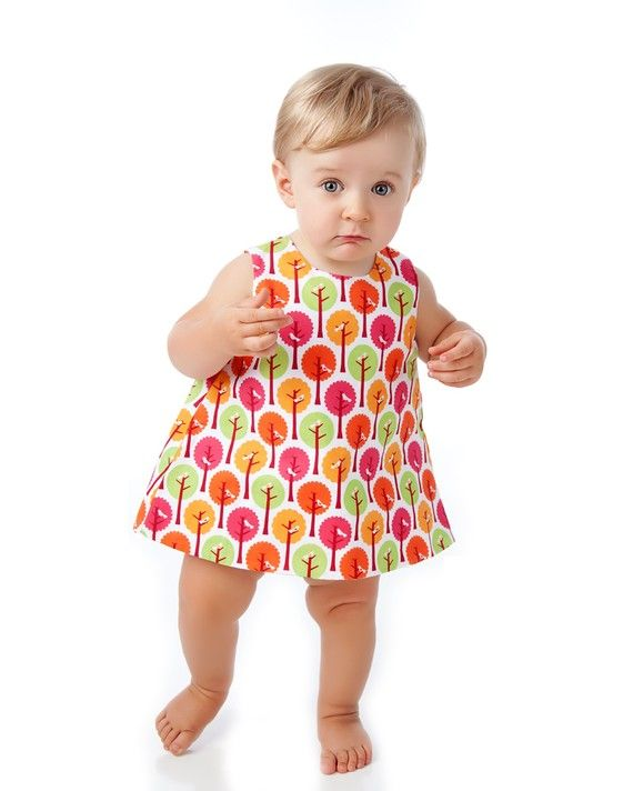 Baby Pinny Dress Pattern Easy Sewing Pattern PDF by tiedyediva, $8.00