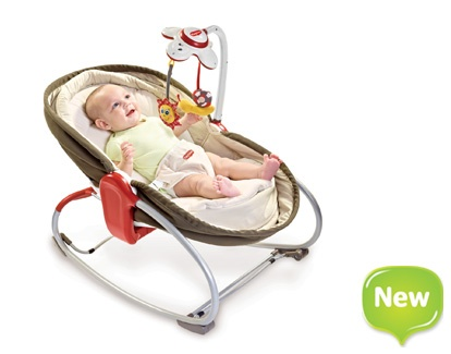3 in 1 rocker-napper (seat, rocker, and lays flat for naps!)