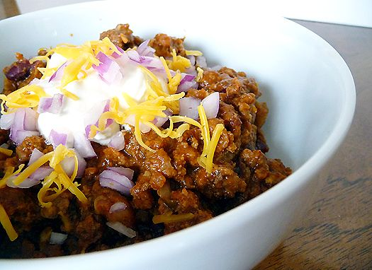 Thick and Hearty Chili: only used 2 Tbsp chili powder and 2 cans beans and it was perfect for us :)
