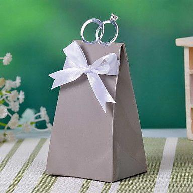 Con questo anello scatola d'argento con favore nastro bianco (set di 12) - EUR € 4.12