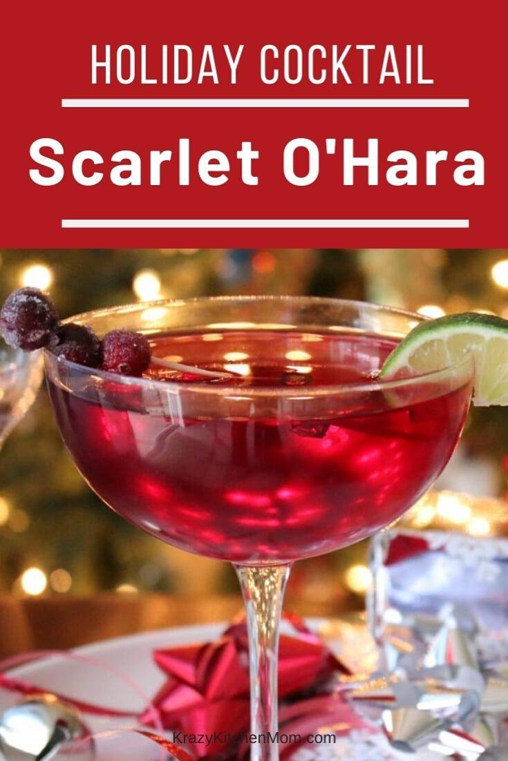 Scarlet O Hara Cocktail Recipe Cocktails Cranberry Juice
