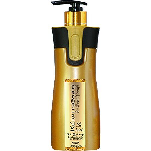 Keratin Cure Professional Brazilian Hair Treatment Gold Honey V2 LGEL Version 2 V2 Brazilian Hair Straightener 460 ml / 15 Fl Oz Wash the Same Day New Tropical Scent Formula ** This is an Amazon Affiliate link. You can find out more details at the link of the image.